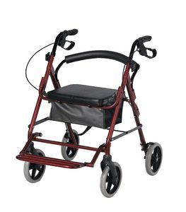 רולטור אלומיניום 4 גלגלים עם מושב ורגלית CA888