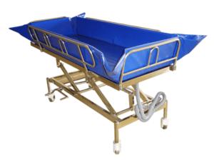 מיטת רחצה ניידת עם גלגלים, שילדת נירוסטה